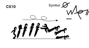 C 510 : 1½ TURN COSSACK JUMP ½ TWIST TO PUSH UP (ALCAN)