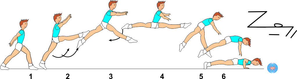 SWITCH SPLIT LEAP TO PUSH UP