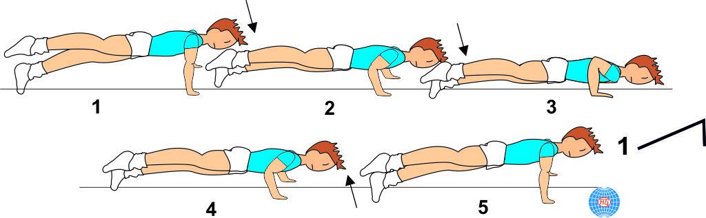 1 LEG PUSH UP