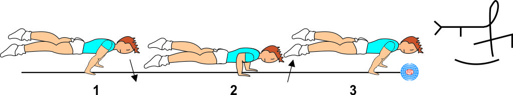 STRADDLE PLANCHE TO PUSH UP