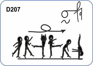 1/1 TURN WITH LEG AT HORIZONTAL TO FREE VERTICAL SPLIT