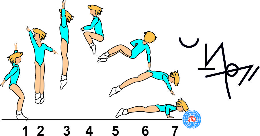 ½ TURN TUCK JUMP ½ TWIST TO PUSH UP