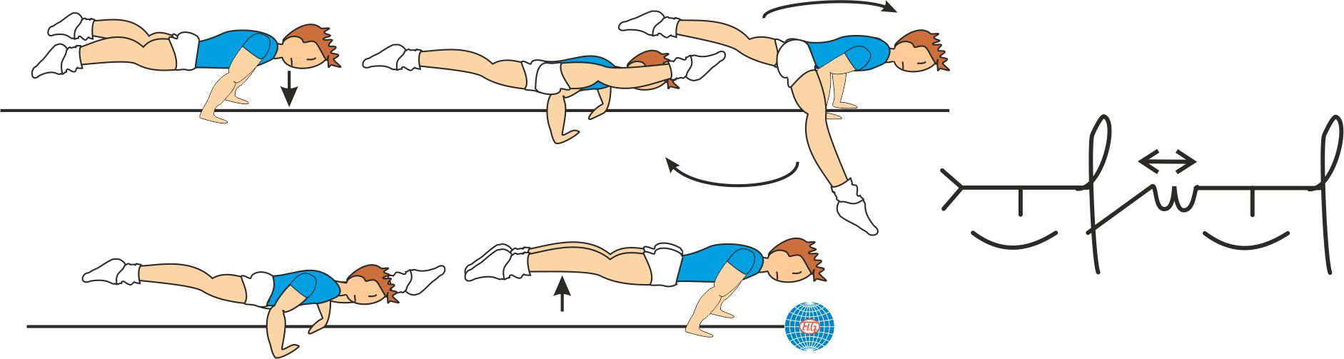 STRADDLE PLANCHE TO LIFTED WENSON BOTH SIDE BACK TO PLANCHE